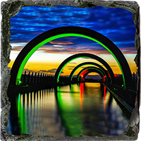 Falkirk Wheel Medium Square Slate FMC_26_MSL