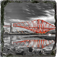 Forth Rail Bridge Medium Square Slate FMC_21_MSL