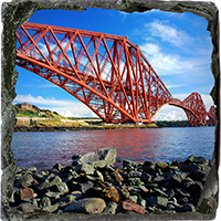 Forth Rail Bridge Medium Square Slate FMC_30_MSL