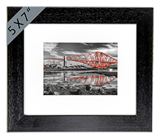 Forth Rail Bridge North Queensferry Mounted Print FMC_21_5x7