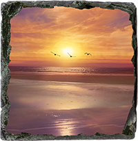 Beach Slate Coaster AS_33_SSC