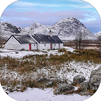 Black Rock Cottage  Ballachulish  Glencoe Coaster FMC_38_SC