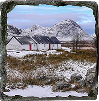 Black Rock Cottage Ballachulish Glencoe Slate Coaster FMC_38_SSC