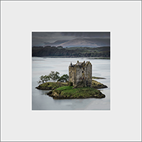Castle Stalker. Loch Laich. Mounted Print  JK_04_MM