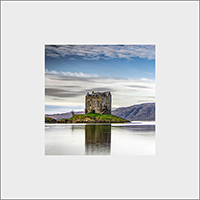Castle Stalker. Loch Laich. Mounted Print  JK_06_MM