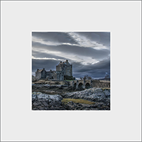Eilean Donan Castle on Loch Duich. Mounted Print  JK_08_MM