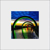 Falkirk WheelAqueduct Mounted Print  FMC_26_MM