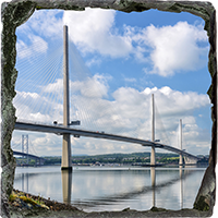 Forth Bridges Medium Square Slate FMC_59_MSL