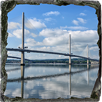 Forth Bridges Medium Square Slate FMC_62_MSL