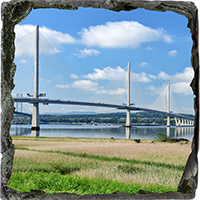 Forth Bridges Medium Square Slate FMC_64_MSL