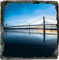 Forth Bridges Medium Square Slate JK_10_MSL