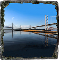Forth Bridges Medium Square Slate JK_12_MSL