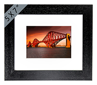Forth Rail Bridge Framed Print AS_51_5x7