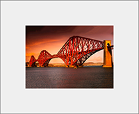 Forth Rail Bridge Mounted Print  AS_51_MM
