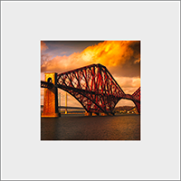 Forth Rail Bridge Mounted Print  AS_52_MM