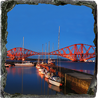 Forth Rail Bridge Slate Coaster FMC_1_SSC