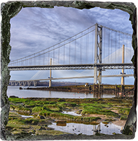 Forth Road Bridge Slate Coaster FMC_48_SSC