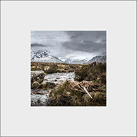 Glen Coe beside River Coe. Mounted Print  JK_09_MM
