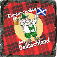 Honorary Scot From Germany. Medium Square Slate JB_15_MSL