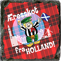 Honorary Scot From Holland, Small Slate Coaster. JB_16_SSC