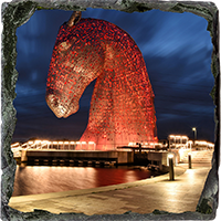 Kelpies Slate Coaster FMC_11_SSC