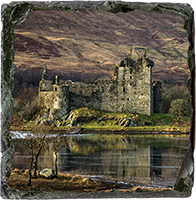 Kilchurn Castle, Loch Awe, Medium Square Slate JK_02_MSL