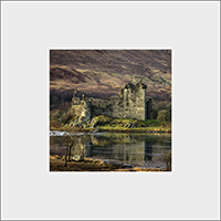 Kilchurn Castle,Loch Awe. Mounted Print  JK_02_MM