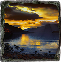 Loch Lomond Slate Coaster AS_36_SSC