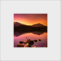 Loch Morlich Mounted Print  AS_54_MM