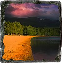 Loch Morlich Slate Coaster  AS_35_SSC