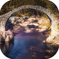 Old Packhorse Bridge @ CarrBridge Coaster AS_23_SC