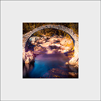 Old Packhorse Bridge Mounted Print AS_23_MM
