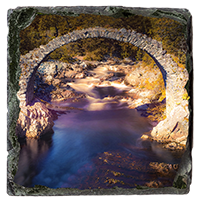 Old Packhorse Bridge Slate Coaster AS_23_SSC