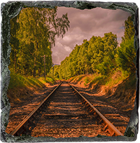 Railway Slate Coaster AS_42_SSC
