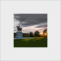 Robert The Bruce Statue. Bannockburn. Mounted Print  JK_05_MM