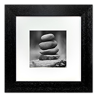 Stone Stack Framed Print AS_47_5x5