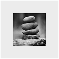 Stone Stack Mounted Print AS_47_MM