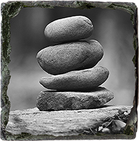 Stone Stack Slate Coaster AS_47_SSC