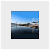 The Forth Bridges. Mounted Print  JK_12_MM