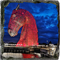The Kelpies Slate Coaster FMC_18_SSC