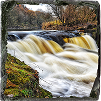 The Weir @ Larbert Slate Coaster FMC_12_SSC