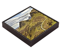 Trotternish Ridge. Isle Of Skye Framed Tile  FMC_29_FT